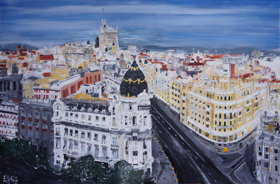 Gran vía, oil over canvas 180x100cm (2016)